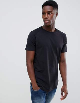 Jack and Jones Core Longline T-Shirt With Raglan Sleeve