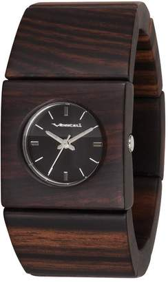 "Vestal Real Wood Bangle Watch ""Rosewood Slim"""