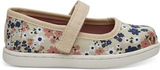 Birch Retro Floral Tiny TOMS Mary Jane Flats