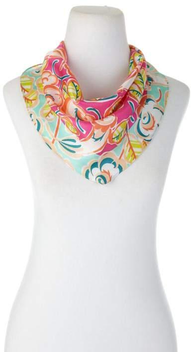 Echo Design Echo Sketchy Floral Rectangular Silk Scarf