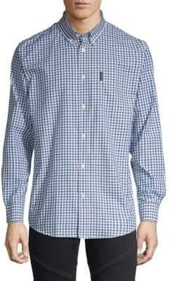 Ben Sherman Gingham-Print Button-Down Shirt