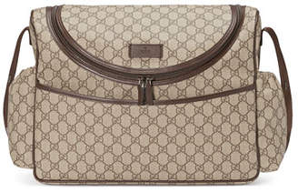 256c3e044314 Gucci Basic GG Supreme Canvas Diaper Bag, Beige