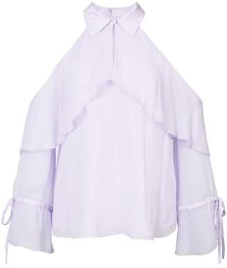 Alice + Olivia (アリス オリビア) - Alice+Olivia frill cold-shoulder blouse