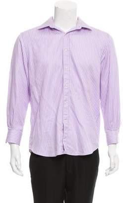 Valentino Striped Button-Up Shirt