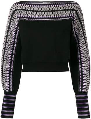 Temperley London cropped knit jumper