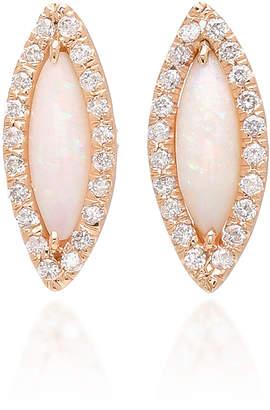 Kimberly McDonald 18K Rose Gold Opal and Diamond Earrings