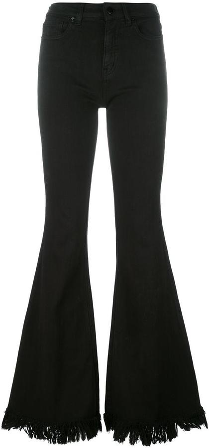 Love MoschinoLove Moschino frayed flared trousers