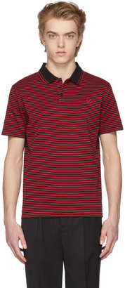 McQ Black and Red Striped Clean Polo