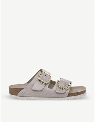 9f9957f19d8 Birkenstock Arizona Big Buckle metallic-suede sandals