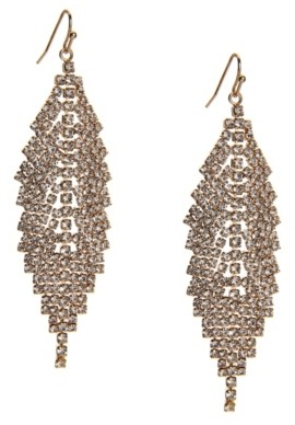 Kelly & Katie Pave Feather Drop Earrings