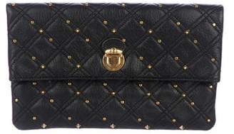 Marc Jacobs Studded Quilted Leather Eugenie Clutch