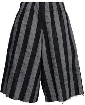 Marques Almeida Marques' Almeida Striped Denim Shorts