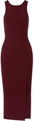 Elizabeth and James - Ritter Stretch-ponte Midi Dress - Burgundy $375 thestylecure.com