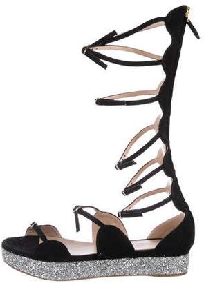 Giambattista Valli Suede Gladiator Sandals