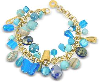 Antica Murrina Veneziana Marilena Murano Glass Marine Charms Bracelet