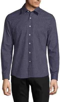 Hyden Yoo Men's Printed Slim-Fit Cotton Button-Down Shirt