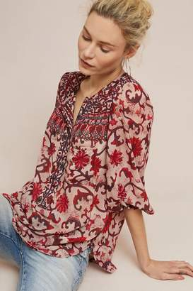 Anthropologie Ulysses Peasant Top
