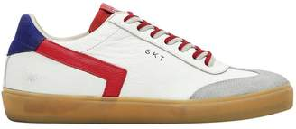 Leather Crown Contrasting Color Sneakers