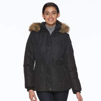 Details Women's Full-Zip Hooded Puffer Jacket