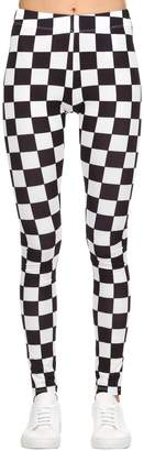 Versus Checkerboard Print Lycra Leggings