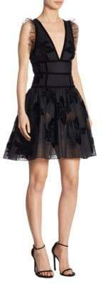 Elie Saab Sheer Fit-&-Flare Dress