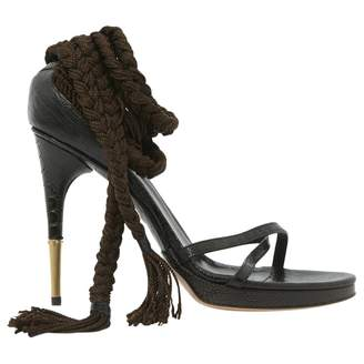 Gucci Brown Leather Heels