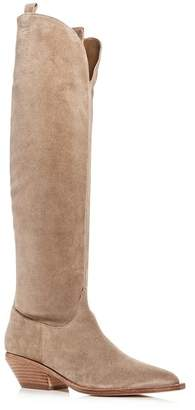 Sigerson Morrison Women's Tyra Suede Western Pointed Toe Boots