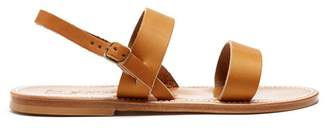 K. Jacques Barigoule Leather Sandals - Womens - Tan