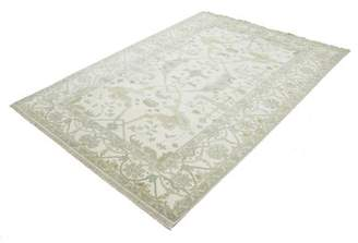 """Charlton Home One-of-a-Kind Schurman Indian Hand-Knotted 6'3"""" x 9' Wool Ivory Area Rug Charlton Home"""