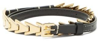 Altuzarra Avalon Gold Chevron Leather Belt - Womens - Gold