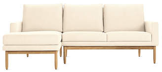 Design Within Reach Raleigh Sectional with Chaise, Offwhite Fabric