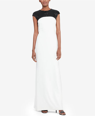 Lauren Ralph Lauren Sequined-Yoke Gown $230 thestylecure.com