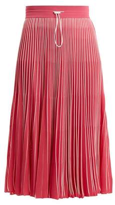 Valentino High Rise Pleated Jersey Midi Skirt - Womens - Light Pink
