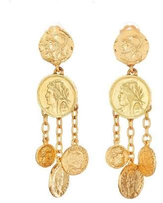 Oscar de la Renta Chandelier Coin Earrings