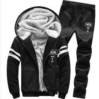Mens Hoodies Clearance Mens Tracksuit! Pervobs Men's Winter Thick Warm Long Sleeved Hoodie Leisure Suit Blouse+ Men Pants Tracksuit(XL, )