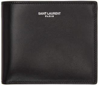 Saint Laurent Black Skull East/West Wallet