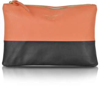 Le Parmentier Color Block Nappa Leather Zip Pouch