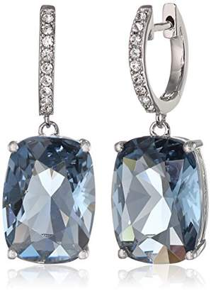 Swarovski Sterling Silver Color and Clear Crystal Dangle Earrings