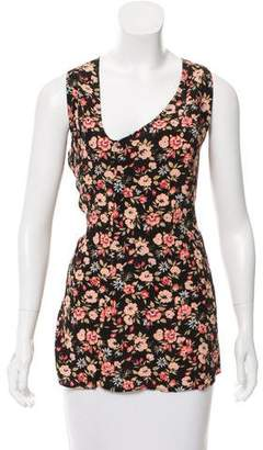 Reformation Floral Print Sleeveless Top