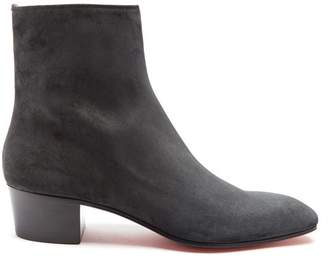Christian Louboutin - Huston Suede Ankle Boots - Mens - Black