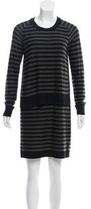 Sonia Rykiel Sonia by Striped Sweater Dress