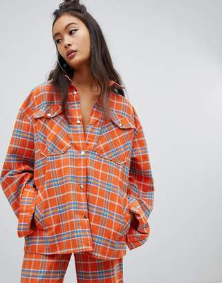 The Ragged Priest shirt in check two-piece