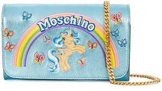 Moschino My Little Pony metallic clutch