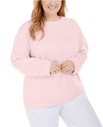 Karen Scott Plus Size Crewneck Fleece Sweatshirt