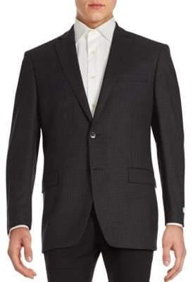 Calvin Klein Gingham Textured Wool Sportcoat