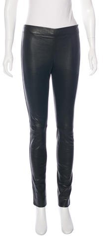 JOSEPH Joseph Elasticized Leather Leggings