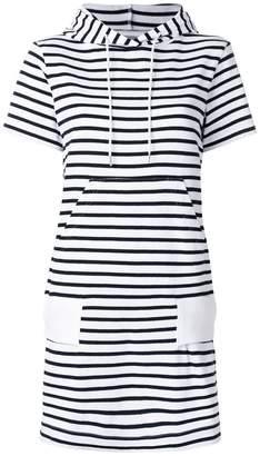 Sacai hooded striped dress