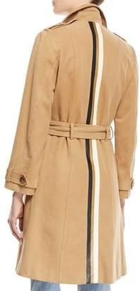 Goyard Le Superbe Belted Stripe Trench Coat