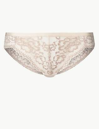 Marks and Spencer Louisa Lace Sparkle Brazilian Knickers