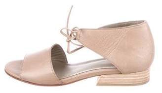 Eileen Fisher Leather Ankle Strap Sandals